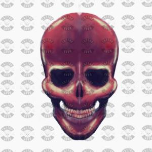 Tatouage crâne aquarelle art néon