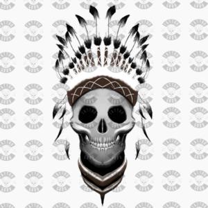 Tattoo-Totenkopf-Indianer