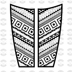Tatuaggio Maori gamba polpaccio