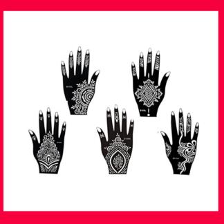 Henna Tattoo Hand 5 Vorlagen