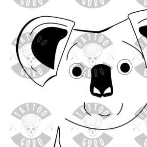 Tattoo Koala bear closeup 2