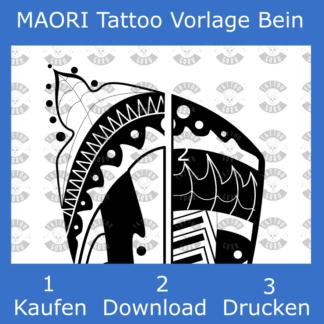 Maori Tattoo Vorlage für den Oberschenkel