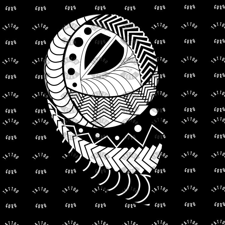 Maori Tattoo Oberarm - Tattoovorlage