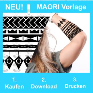 Maori Tattoo Vorlage Unterarm Frau Mann