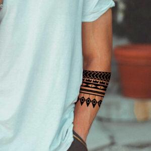 Maori Tattoo Vorlage Arm Mann