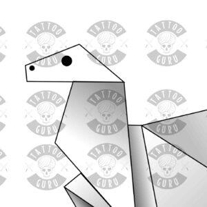 Origami tattoo zoom 1
