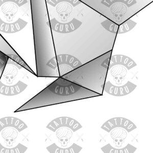 Origami tattoo zoom 2
