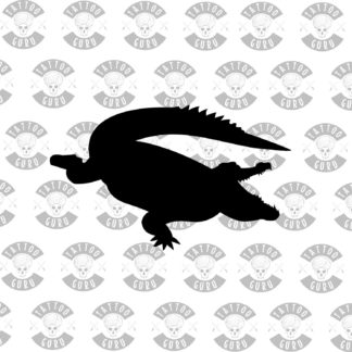 Tattoo aligator crocodile black