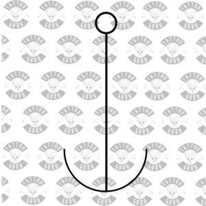 Tattoo anchor linework