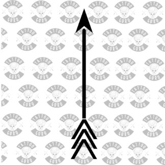 Tattoo arrow minimal black