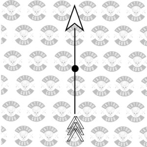 Tattoo arrow minimalistic silhouette