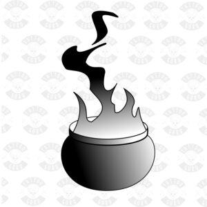 Tattoo cauldron black