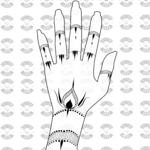Tattoo Henna Arm und Finger 2