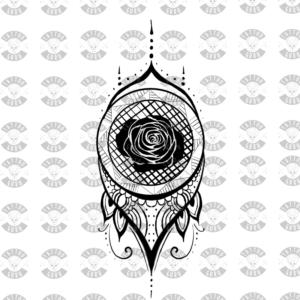 Tattoo Henna Rose
