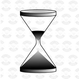 Tattoo hourglass illustration