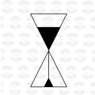 Tattoo hourglass black grafic