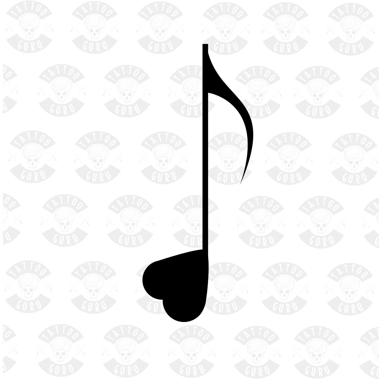 Note De Musique De Tatouage Coeur Tattoo Guru Net