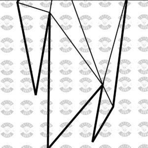 Tattoo Vorlage Wolf Kopf heulend Polygon schwarz zoom2