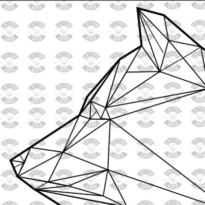 Tattoo Wolf Kopf Seite Polygon schwarz Zoom 1
