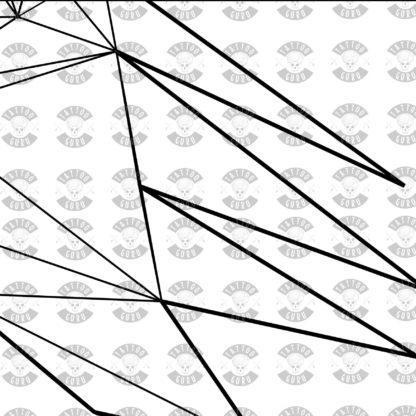 Tattoo Wolf Kopf Seite Polygon schwarz Zoom 2