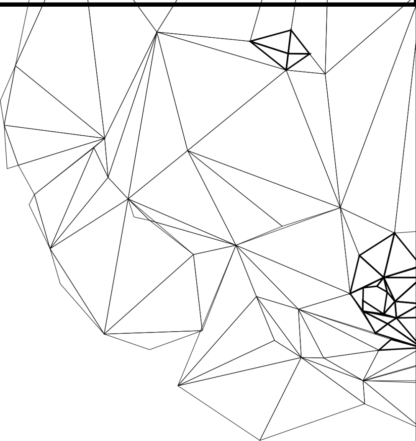 Tattoo Wolfskopf polygon Auschnitt 2