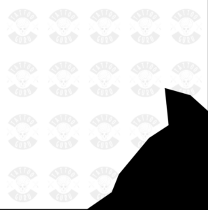 Tattoo Wolfskopf Seite Schwarz Zoom1