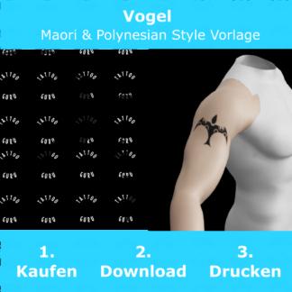Vogel Maori Polynesian Tattoo Vorlage